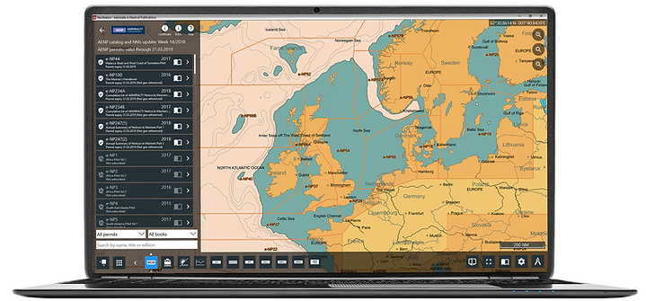 Screenshot of AENP in NavStation on laptop