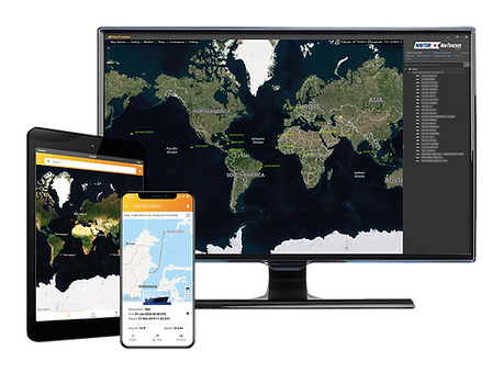 Illustration of NavTracker on several devices isolated