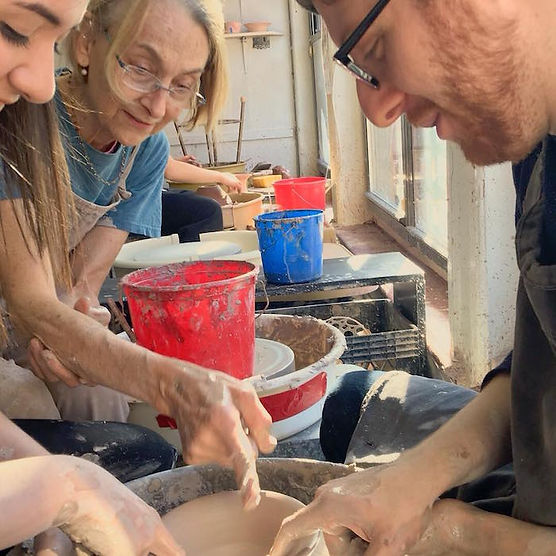 take a private class or gift someone a pottery class at Supermud