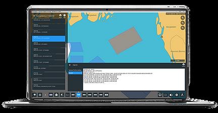 Example of NAVAREA warning overlay in NavStation