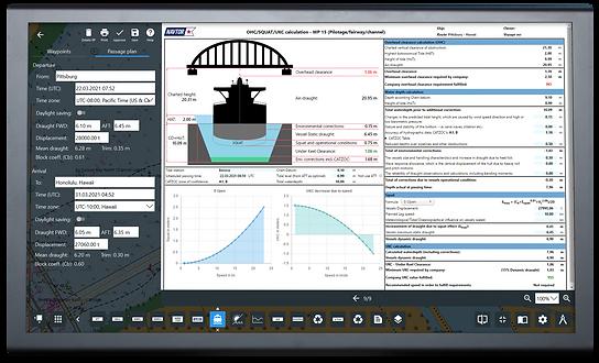 Screenshot of the Passage Planning module on NavStation
