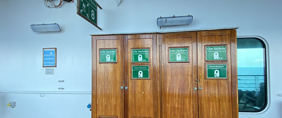 image of IMO signs onboard vessel