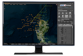 Screenshot of NavTracker with AIS targets