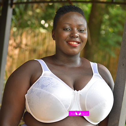 White Minimizer Bra