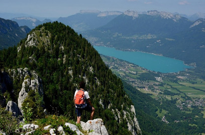 Bout du lac vue de haut