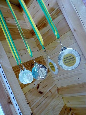 médailles du concours de pétanque