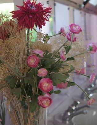 Sanitaires fleuris