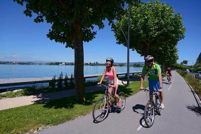 Piste cyclable autour du lac