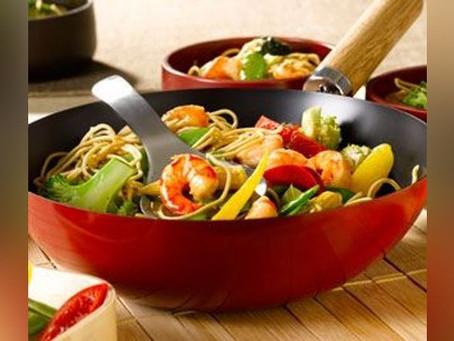 Wok Gambas au curry