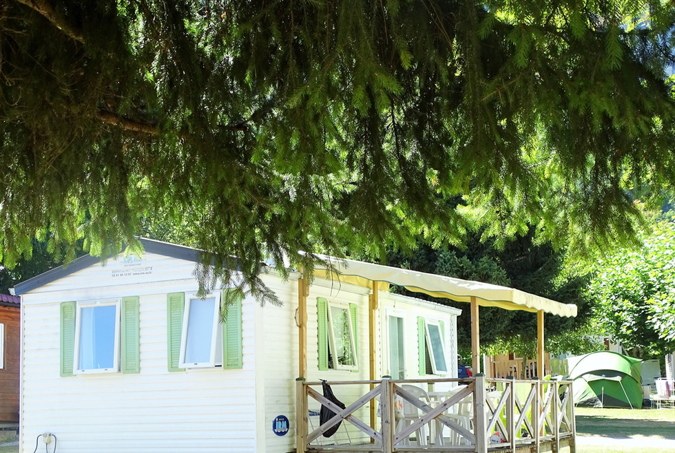 Mobil home du camping
