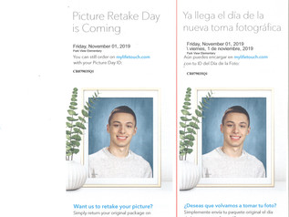 Picture Retake Day - Friday, 11/1/19