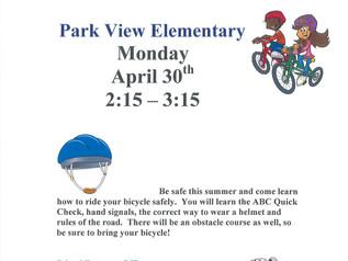 Bike Rodeo - Monday, 4/30