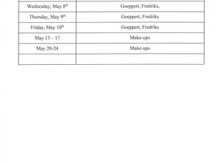 State Testing Schedule Spring 2019