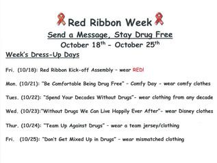 Red Ribbon Week 10/18 - 10/25