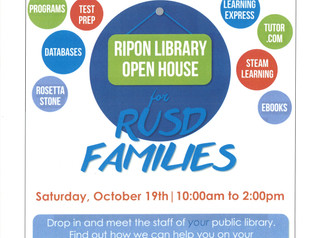 Ripon City Library Open House Contest - 10/19/19