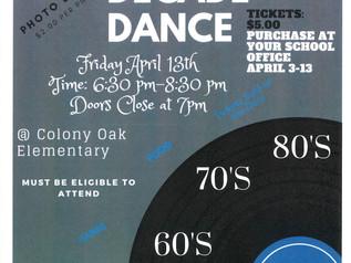 7th/8th Grade District Dance @ Colony Oak - Friday, 4/13/18