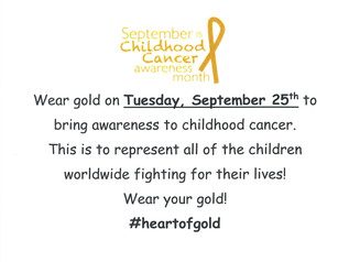 Gold Dress Up Day - Tuesday, 9/25/18