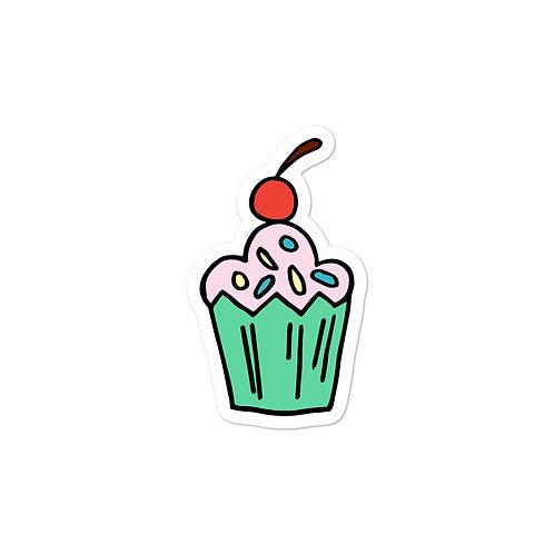 Pink / Green Cupcake