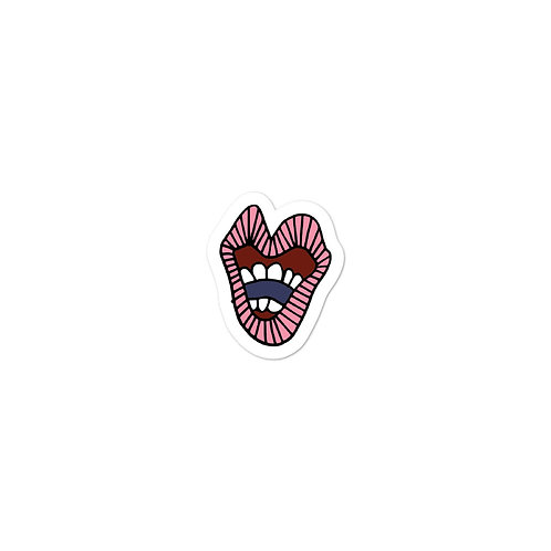 Pink Mouth Sticker