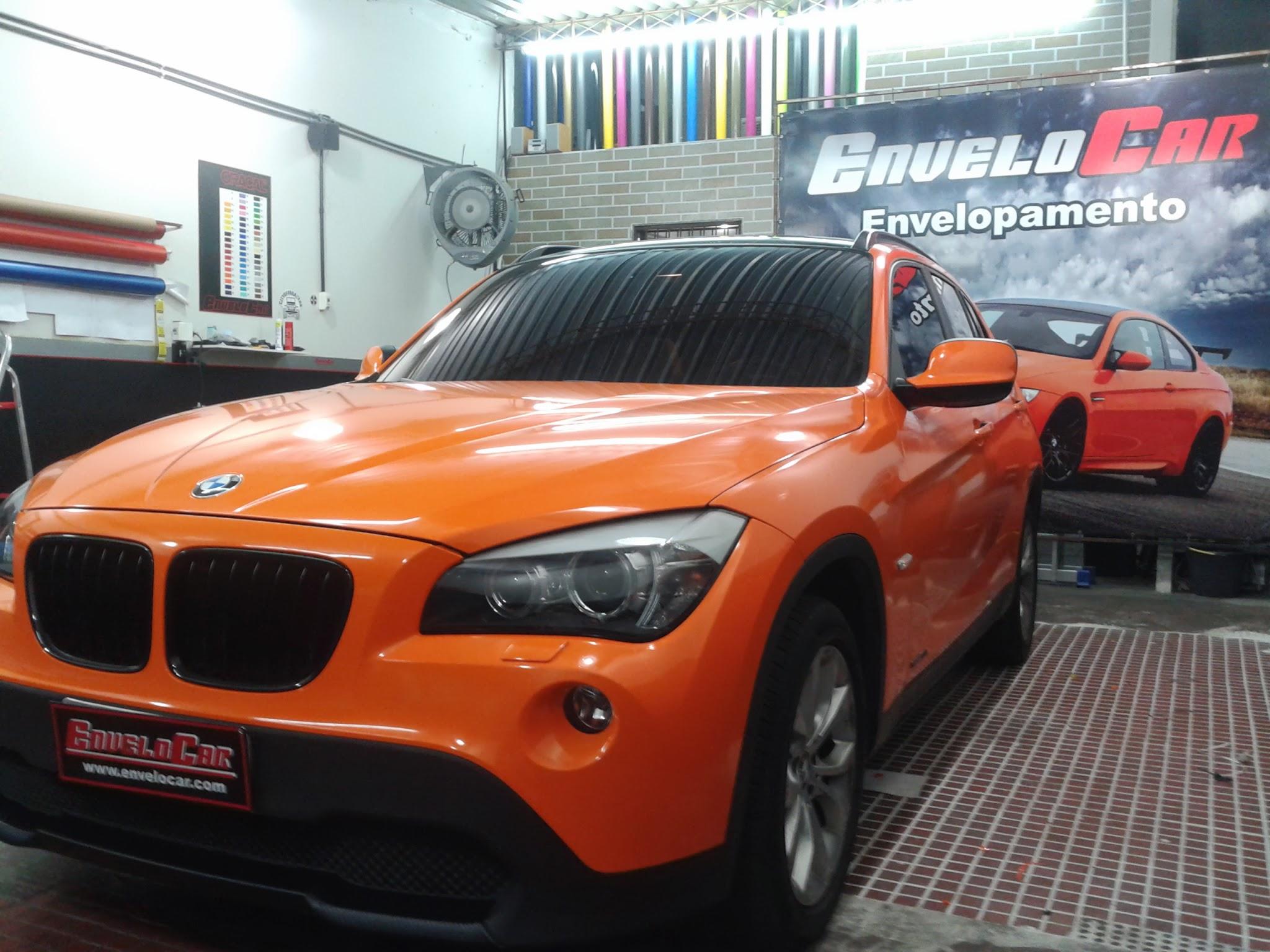 BMW ENVELOPAMENTO LARANJA BRILHO