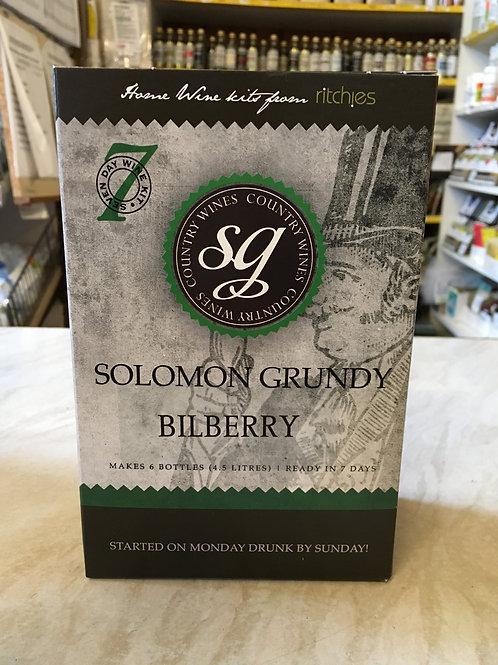 Solomon Grundy Bilberry 6 bottle wine kit