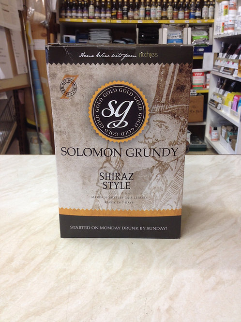 Solomon Grundy Shiraz Style 30 bottle kit