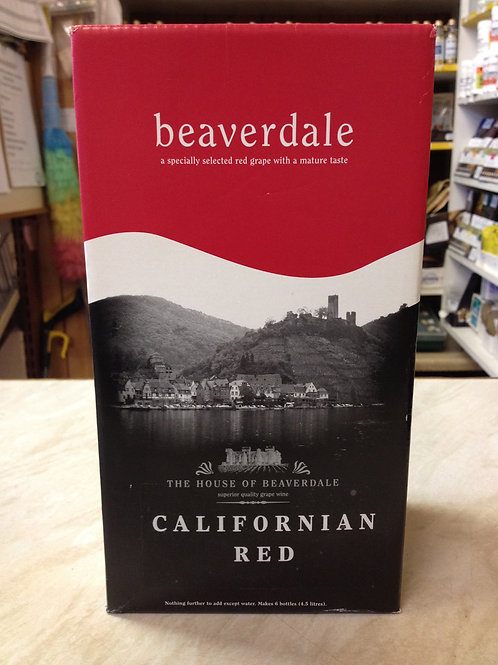 Beaverdale Californian Red 6 Bottle Kit