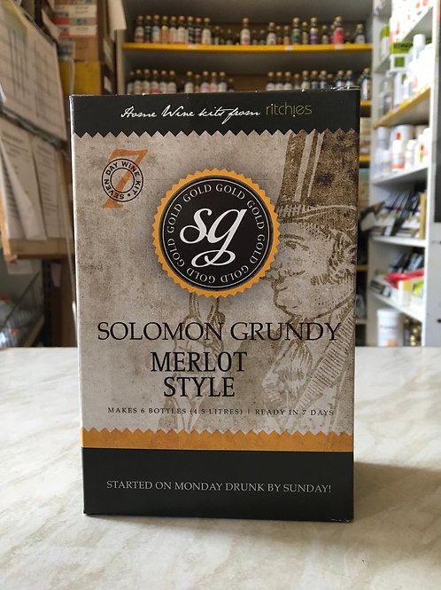 Solomon Grundy Gold Merlot 6 bottle kit