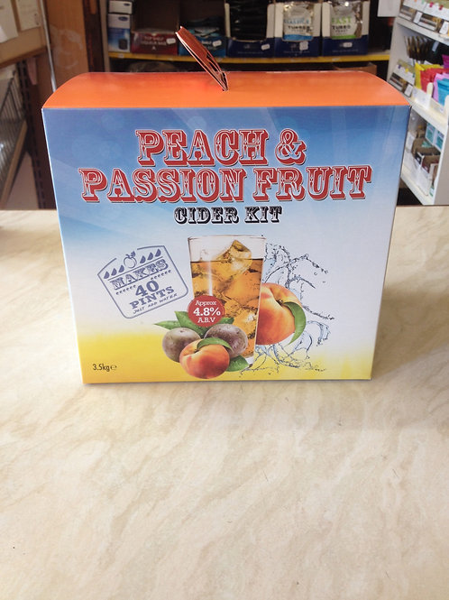 Peach & Passion Fruit Cider Kit 40pt