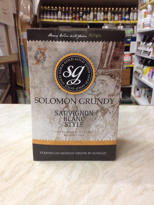 Solomon Grundy Sauvignon Blanc Style 30 bottle kit