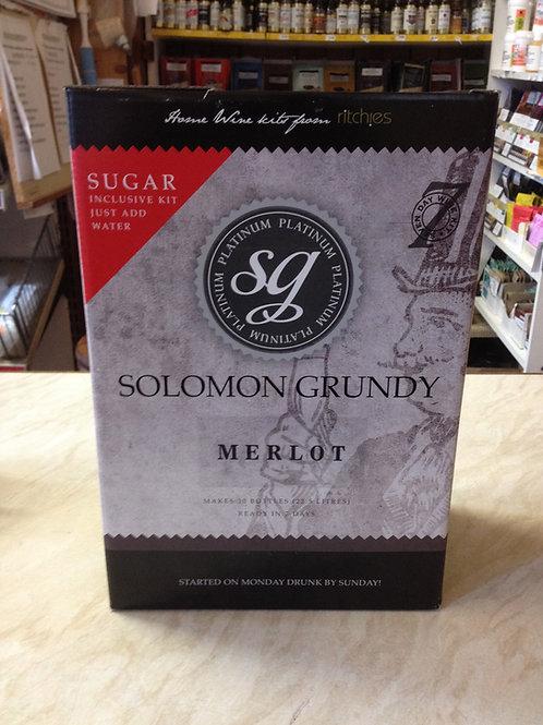 Solomon Grundy Platinum Merlot 30 bottle kit