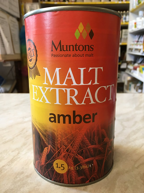 Muntons Amber Plain Malt Extract 1.5kg