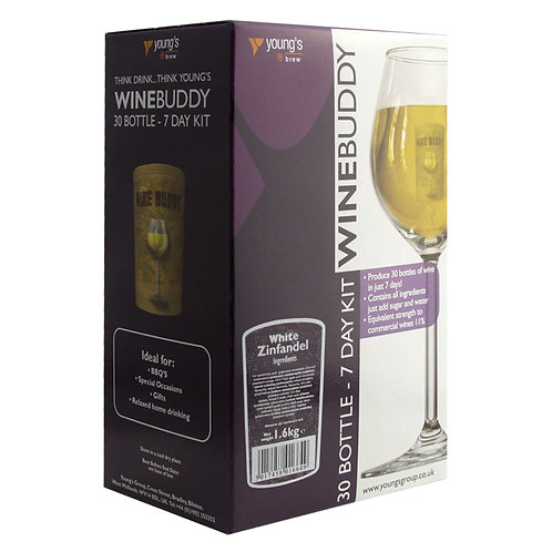 WineBuddy White Zinfandel 30 bottle kit