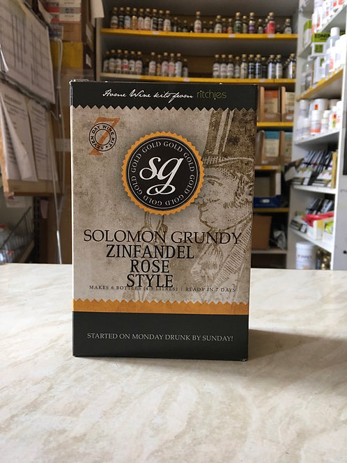 Solomon Grundy Gold Zinfandel 6 bottle Kit