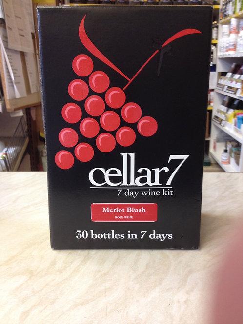 Cellar 7 Merlot Blush 30 bottle kit