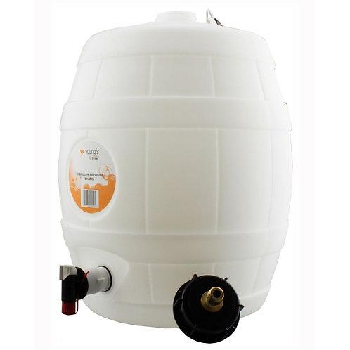 5 Gal Basic White Barrel with 8grm Pin Valve Cap
