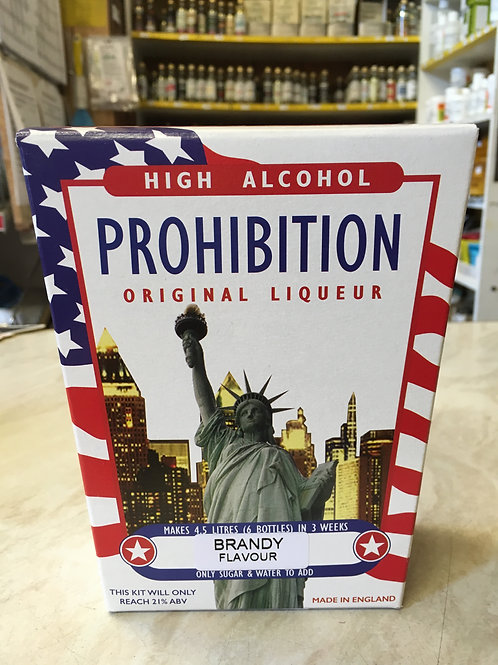 Prohibition Brandy High Alcohol Spirit Kit
