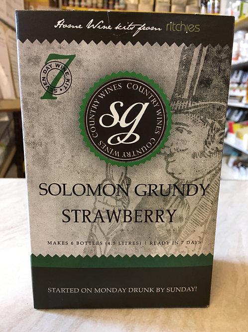 Solomon Grundy Strawberry 6 bottle wine kit