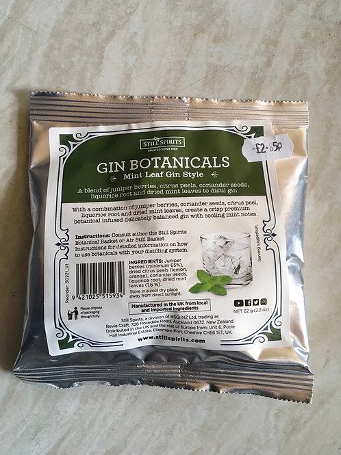 Gin Botanicals Mint Leaf Gin Style