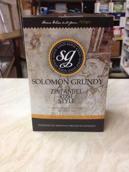 Solomon Grundy Zinfandel Rose Style 30 bottle kit