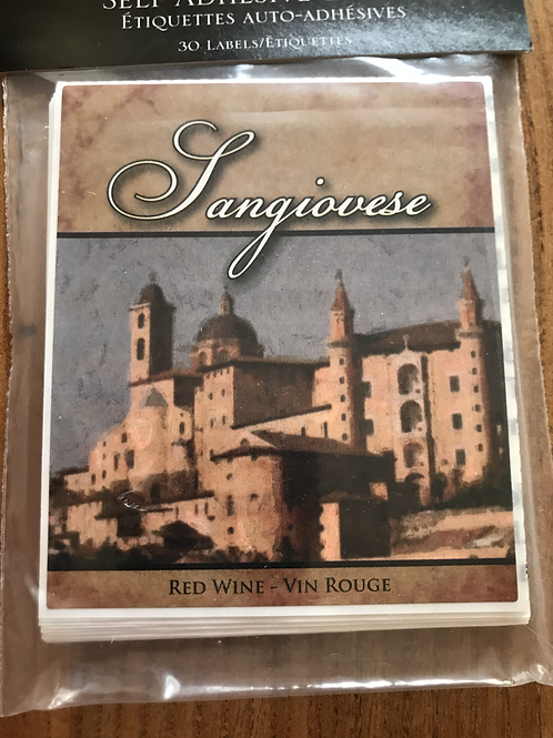 Sangiovese 30 labels