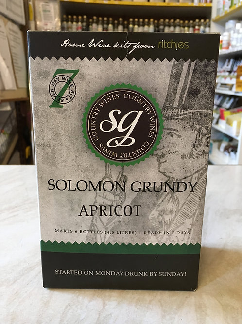 Solomon Grundy Apricot 6 bottle wine kit