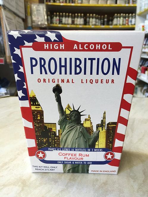 Prohibition Coffee Rum High Alcohol Liqueur Kit