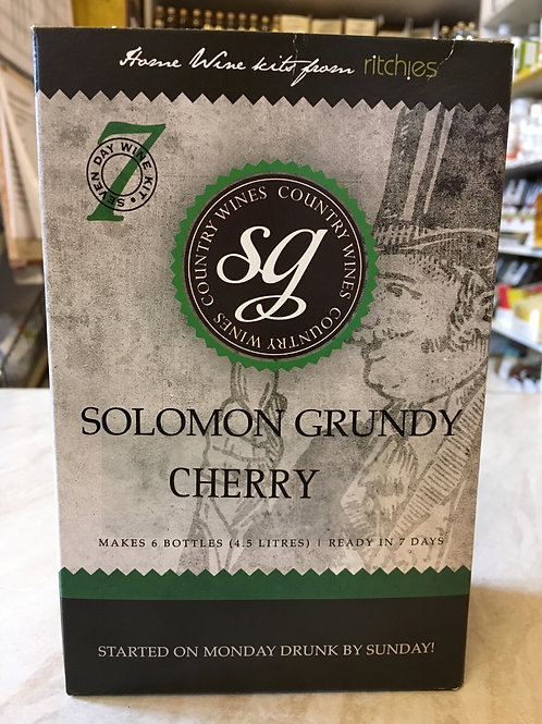 Solomon Grundy Cherry 6 bottle wine kit