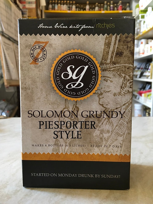 Solomon Grundy Gold Piesporter 6 bottle kit
