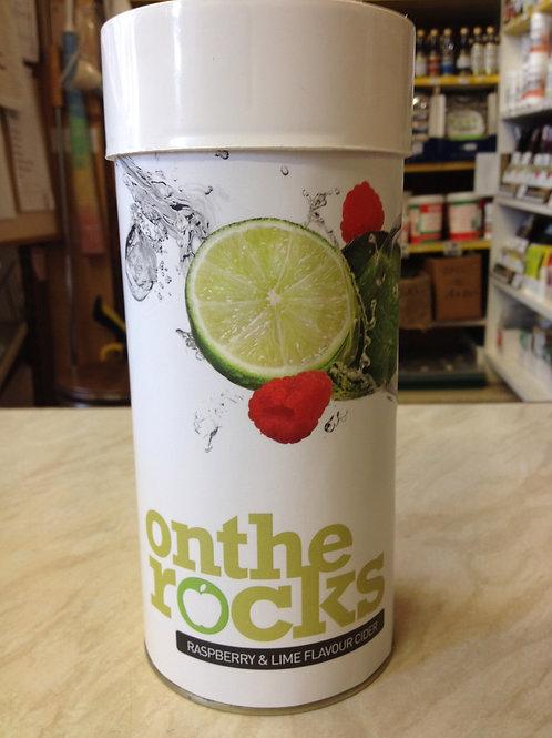 On the Rocks Raspberry & Lime Cider