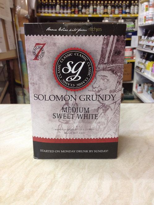 Solomon Grundy Medium Sweet White 30 bottle kit