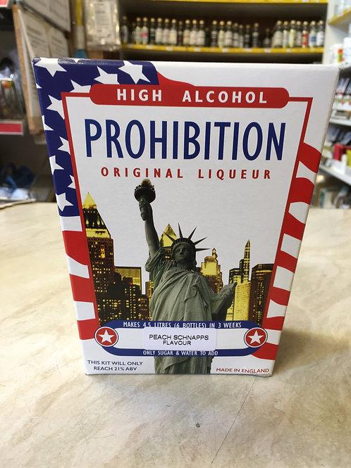 Prohibition Peach Schnapps High Alcohol Liqueur Kit