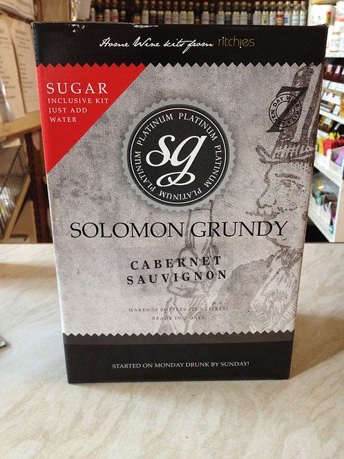 Solomon Grundy Platinum Cabernet Sauvignon 30 bottle kit