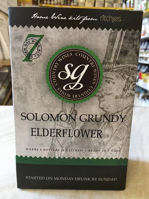 Solomon Grundy Elderflower 6 bottle wine kit